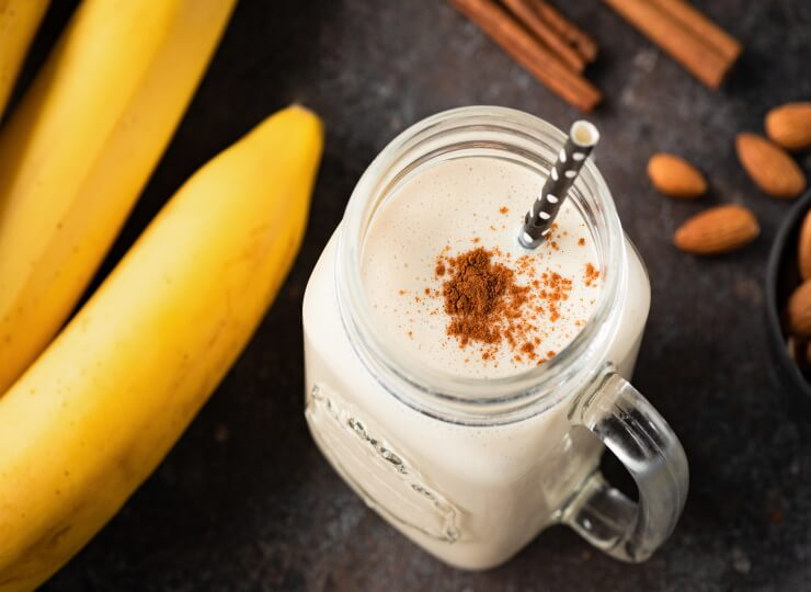CBD Peanut Butter Banana Cacao Smoothie Recipe
