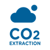 CO2 extraction blue icon