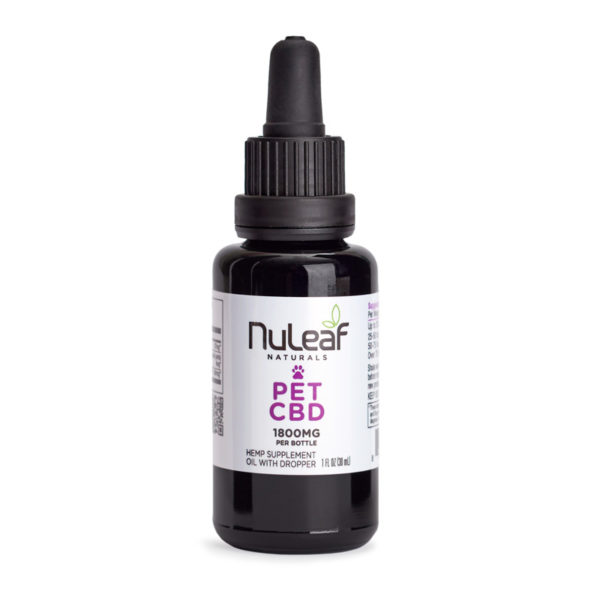 NuLeaf pet oil 1800mg bottle