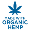 Made with organic hemp blue icon
