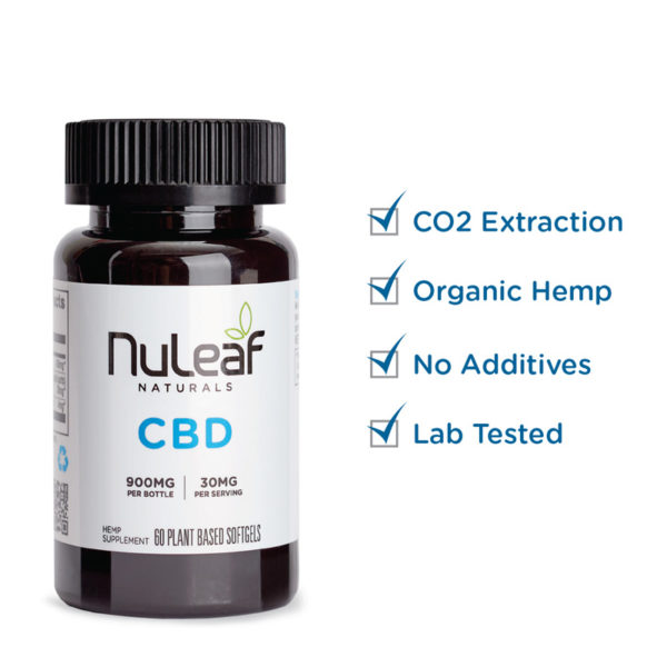 Human CBD softgel bottle check list